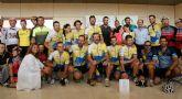 La Arrixaca recibe a los participantes en el reto 'En bicicleta contar el cáncer'