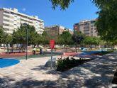 Avanzan las obras del eje peatonal de Ronda Sur que unirá los jardines Maestro Ibarra y José Antonio Camacho, promoviendo la actividad deportiva y los juegos en familia