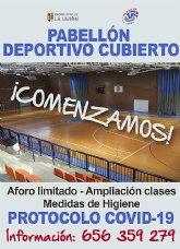 Las actividades deportivas municipales comenzarán el 5 de Octubre