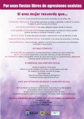Campaña 'Por unas fiestas libres de agresiones sexistas'