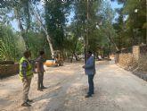 La Comunidad acondiciona la zona de recreo del paseo fluvial del Santuario de la Esperanza de Calasparra para mejorar la seguridad