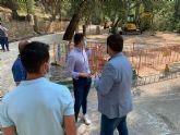 Visita a las obras de adecuación de la segunda fase en las terrazas del Santuario de Nuestra Senora de la Esperanza