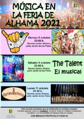 Ampliación del aforo para los espectáculos y conciertos de la Feria de Alhama 2021