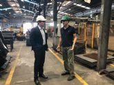 El alcalde de Fuente Álamo visita al Grupo Relesa para conocer su actividad y estudiar la ampliación de las instalaciones