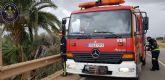 Bomberos Cartagena rescata a una mujer que había sufrido un accidente en la carretera de La Puebla