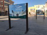 La Exposición 'Cartagena, naturaleza sumergida', se encuentra ubicada en la plaza del Ayuntamiento de Torre Pacheco