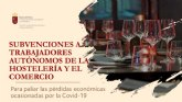 Subvenciones a trabajadores aut�nomos de hosteler�a y comercio por la Covid-19