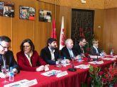 López Miras inaugura la exposición '130 años de luchas y conquistas' con motivo del 130 aniversario de UGT