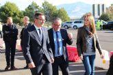 Diego Conesa asiste a la apertura al tr�fico de la Fase I de las Instalaciones del �rea de Servicio de Alhama de Murcia en la A-7