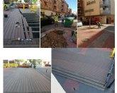Saorín: 'Empleados municipales sustituyen la tarima de la entrada de la rambla de El Realejo'