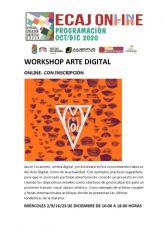 La Concejalía de Juventud comienza el miércoles 2 de noviembre, dentro del programa On-Fire del Espacio de Creación Artística Joven ECAJ, las sesiones formativas de Arte Digital
