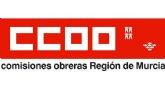 CCOO denuncia 'Abuso de la precariedad laboral en el sector de la limpieza de edificios y locales de la región de Murcia'