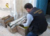 La Guardia Civil ha destruido el triple de artefactos explosivos que el año anterior