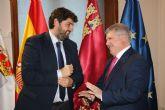 El alcalde de Calasparra se reúne con el presidente de la Comunidad Autónoma de la Región de Murcia