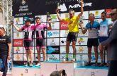 Juan Pedro Miñarro y Felipe Navarro p�dium en XVI Vuelta Ibiza en Mountain Bike