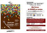 El alcalde pedáneo de San Ginés realiza una exhibición de dominó durante una jornada destinada a estimular la memoria