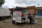 Protección Civil lleva cada día kits de comida e higiene a los barrios
