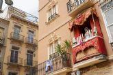 Los balcones de Cartagena, engalanados por Semana Santa