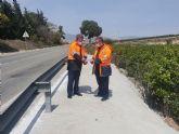 Fomento mejora la seguridad de la carretera que comunica los municipios de Murcia y Fortuna