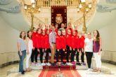 El alcalde felicita al equipo de Gimnasia Estetica de Cartagena por sus exitos en el mundial