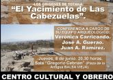 La charla-coloquio 'Los orígenes de Totana: El yacimiento de las Cabezuelas' tendrá lugar el próximo jueves 8 de junio