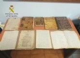 La Guardia Civil recupera numerosos manuscritos y documentos históricos del S. XVI al S. XVIII