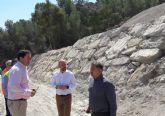 Concluyen las obras de estabilización de la zona norte del acceso al Castillo de Lorca
