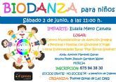 El Centro 'Pilar Bernal Giménez' de Murcia acoge este próximo sábado, 2 de junio, un Taller de Biodanza para niños
