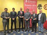 Cuatro empresas alcantarilleras del Polígono Industrial Oeste recibieron galardones ayer en los Premios Mercurio de la Cámara de Comercio de Murcia