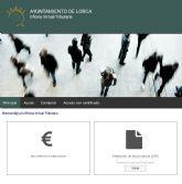 El Ayuntamiento de Lorca amplía los servicios de la Oficina Virtual Tributaria