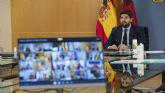López Miras: 'No es ético ni legítimo que el Gobierno central llegue a acuerdos bilaterales con algunas regiones a cambio de votos'