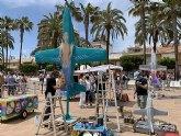 Arte urbano sobre los míticos aviones C-101 en el Festival de Arte Callejero Aeronáutico , FACA, de San Javier
