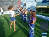 Juegos para disfrutar en familia y cine de verano en la playa de Mazarr�n
