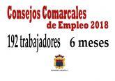Iniciados los Consejos Comarcales de Empleo que darán trabajo a 192 personas en los próximos seis meses