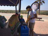 San Pedro del Pinatar acoge la campaña ambiental  'Recicla y respira en nuestras playas'