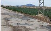 La Consejería de Agricultura incluye tres caminos rurales de Totana de los 37 de la Región elegidos para su adecuación por un importe total de 6 millones de euros