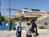 El alcalde de Lorca anuncia el inicio inminente de los trabajos de estabilización del muro junto a la calle Portijico con un plazo de ejecución de tres meses