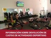 Informaci�n sobre devoluci�n de cuotas de actividades deportivas suspendidas