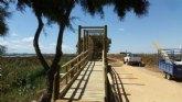 Continúan las obras de mejora en el sendero de Los Tarays del parque regional Salinas y Arenales de San Pedro del Pinatar