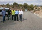 Las obras de ampliación de la carretera que comunica La Puebla de Mula con Fuente Librilla culminarán en septiembre