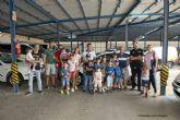 Pequeños y mayores conocen el funcionamiento del Parque de Seguridad de Cartagena
