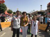 La consejera Adela Martínez-Cachá asiste a la salida de la séptima etapa de La Vuelta Ciclista a España en Puerto Lumbreras