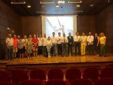 El alcalde de La Unión recibe a la tripulación del Pez de Abril, ganador de la Copa del Rey de Vela