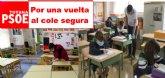 PSOE de Totana solicita al Ayuntamiento que ponga a disposición de los centros educativos de Totana los espacios municipales en condiciones de seguridad y bienestar
