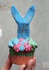 Receta: !Cómo hacer cupcakes de sirena!