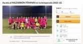 Un equipo de fútbol femenino de Mazarrón lanza un crowdfunding para desarrollar un club deportivo