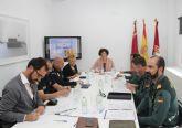La Secretaria General de la Delegación del Gobierno y la Alcaldesa presiden la Junta Local de Seguridad de Puerto Lumbreras