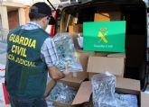 La Guardia Civil intercepta un camión con cerca de 200 kilos de marihuana