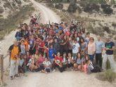90 Alumnos del IES Floridablanca de Murcia realizan una reforestación en la Vía Verde