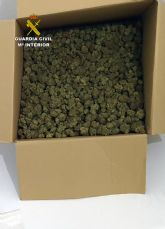 La Guardia Civil detiene en ruta a un conductor con seis kilos de marihuana